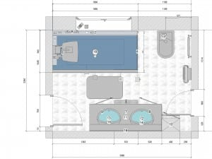 plan salle de bains adaptée
