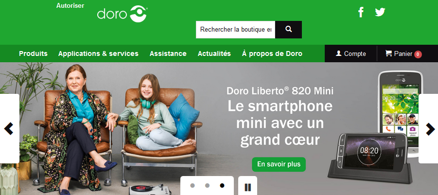Site internet e-commerce Doro