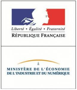 Ministère de l'économie de l'industrie et du numérique Logo