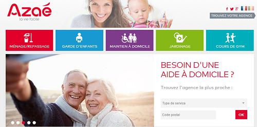 Site internet Azaé - services à la personne