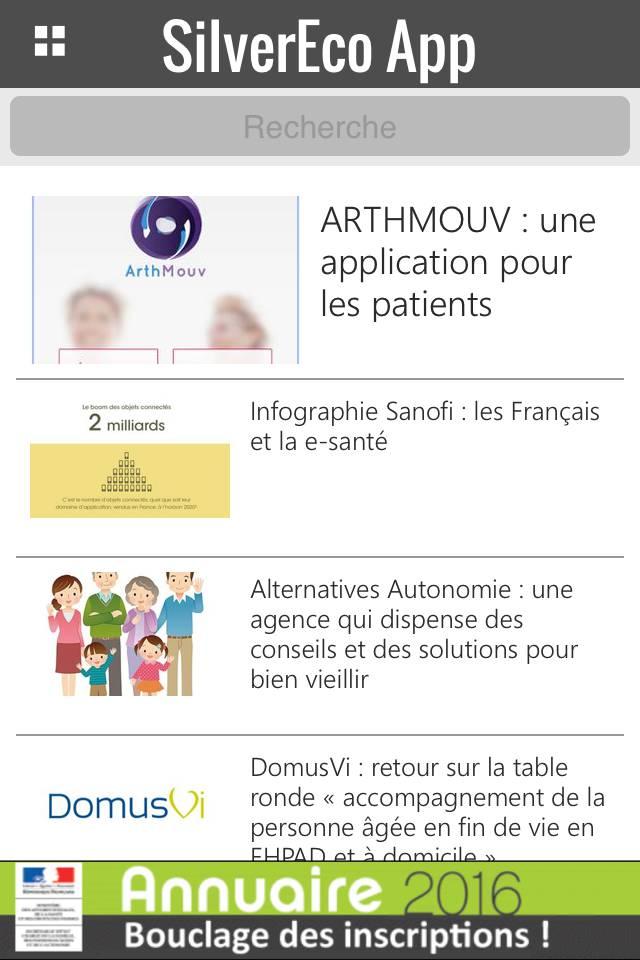 Actu SilverEco App