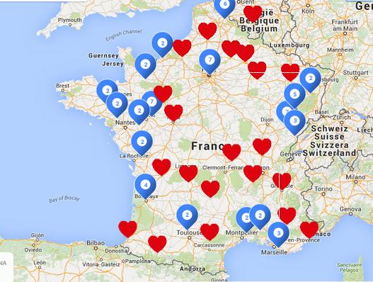 Cartographie Journée Nationale des Aidants