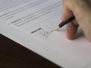 Contrat - prévoyance - Signature