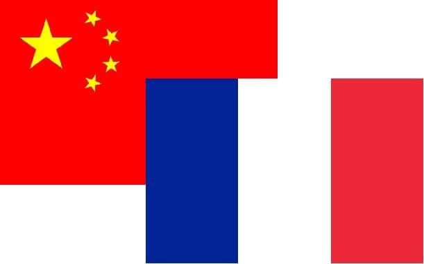 France-Chine drapeaux