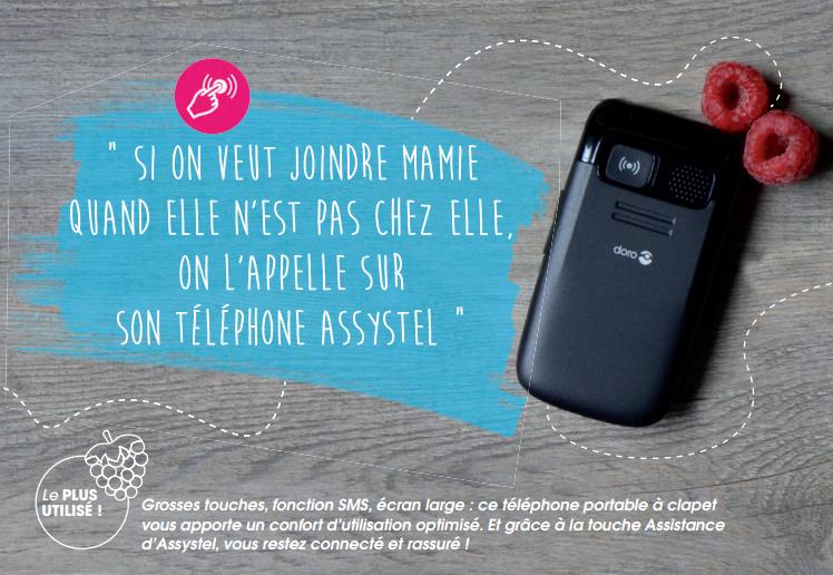 Téléphone connecté Assystel - Téléassistance Mobile