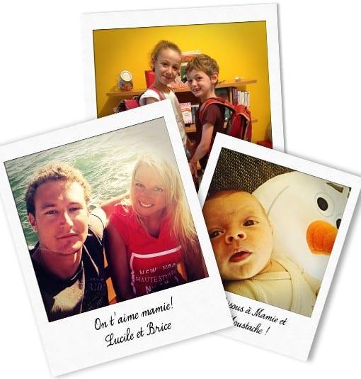 Polaroid-Selfie pour Mamie