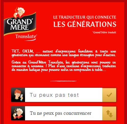 Café grand-mère - traducteur intergénérationnel