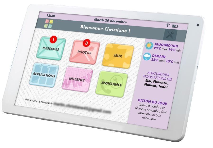 FACILOTAB accessibilité tablette fracture numérique isolement