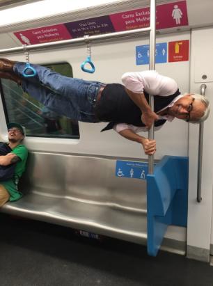 Fit Grandpa métro Rio Jeux Olympiques sport