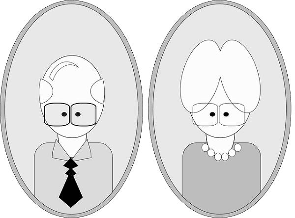 personnes âgées-dessin-seniors