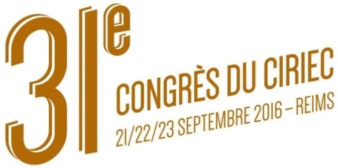 Logo du 31e congrès du Ciriec à Reims