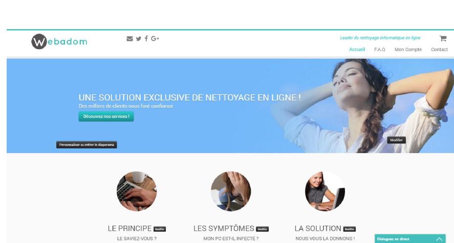 Visibilité du site Webadom