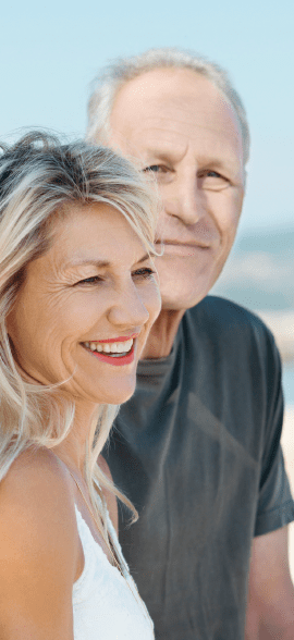 Bonheur et sourire des seniors