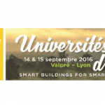 Universités d'été Smart Buildings for Smart Cities les 14 et 15 septembre 2016 à Lyon