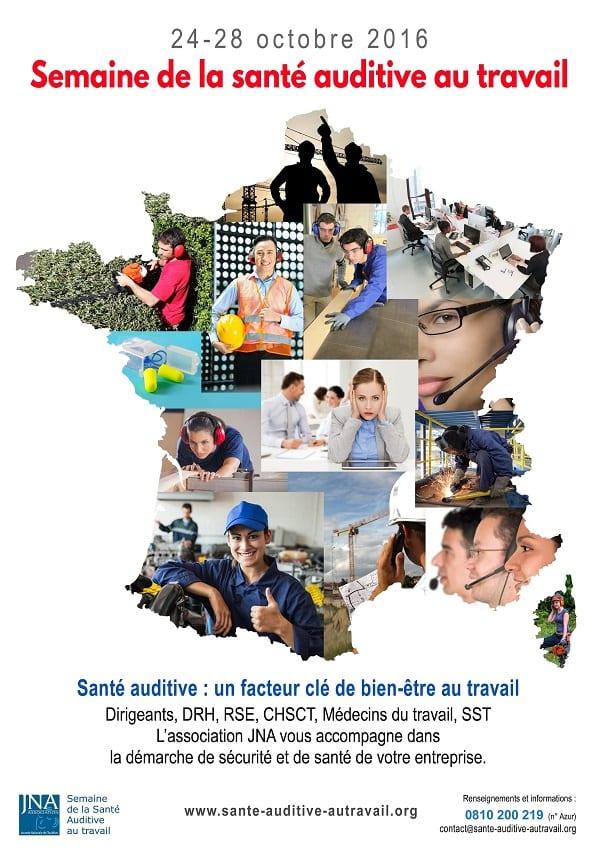 Affiche de la semaine de la santé auditive au travail