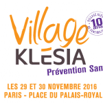 RDV les 29 et 30 novembre 2016 pour le Village Klésia «Prévention Santé»