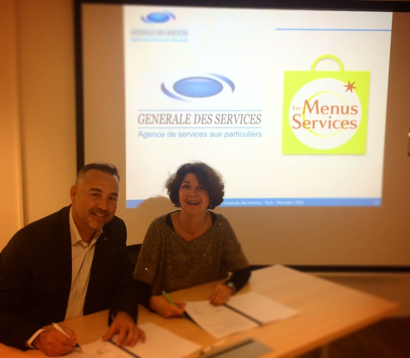 Partenariat entre Les Menus Services et Générale des services