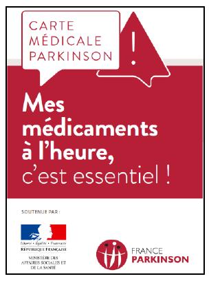Carte médicale Parkinson