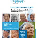 «Les droits de nos aînés dans le monde», un colloque organisé par la FIAPA à Cuba du 3 au 6 avril 2017