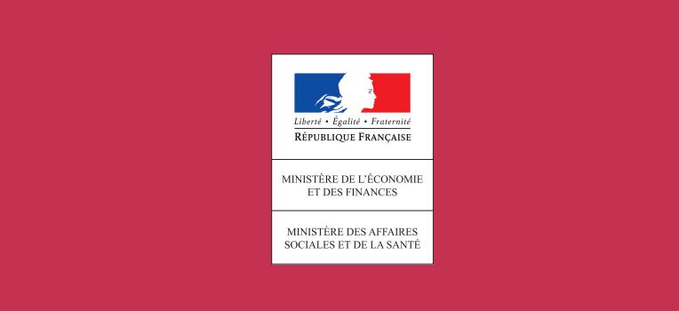 Logo du Ministères de l'Economie et des Finances et du Ministère des affaires sociales et de la santé