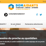 Site internet Domaidants la maison des aidants