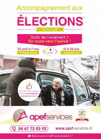 Apef Services aide les seniors à se rendre jusqu'aux urnes