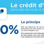 [Infographie] Le crédit d'impôt dans les services à la personne