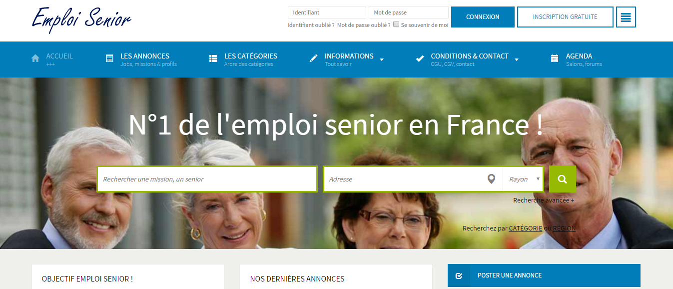 Site Internet Emploi Senior