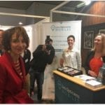 Marisol Touraine sur le stand des Opticiens Mobiles