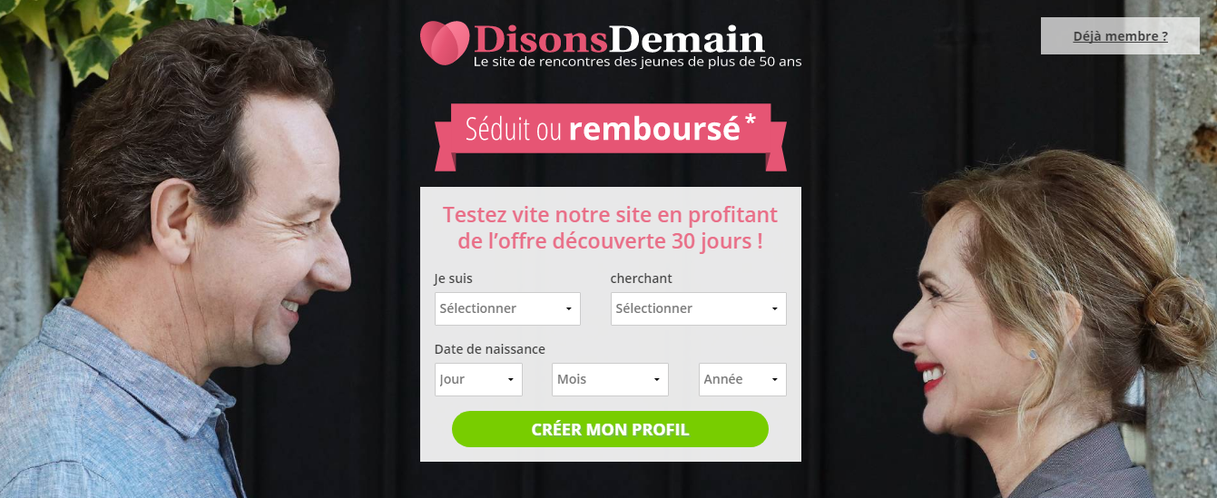 Site de rencontres Disons demain - Meetic
