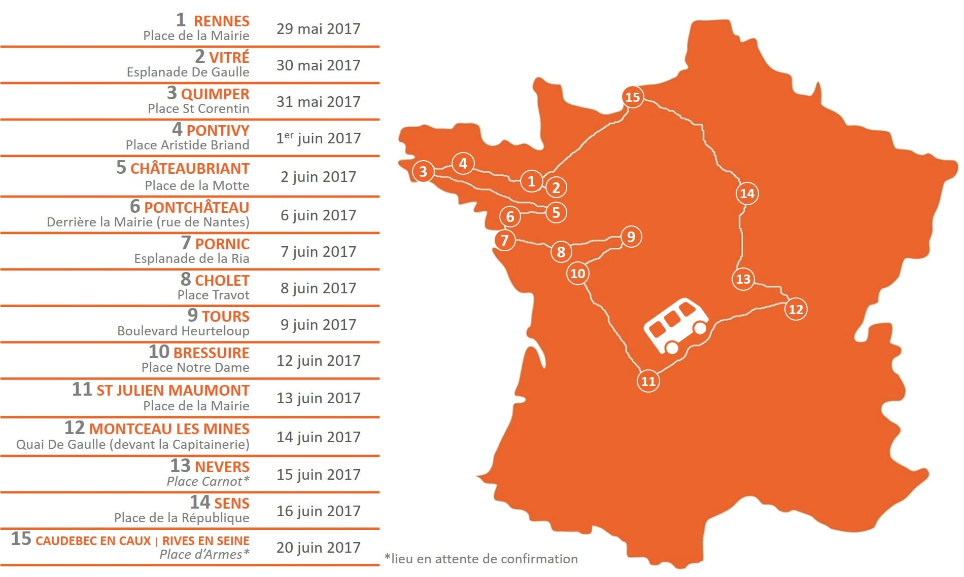 Itinéraire du Bus Mémoire - Bistrot mémoire