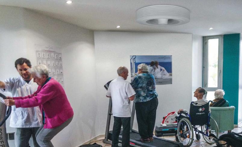Exhale ventilateur de plafond en maison de retraite