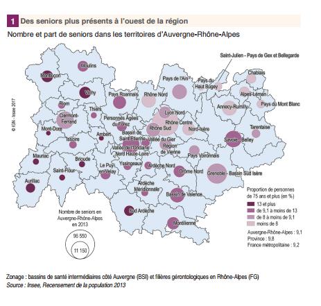 Graphique Insee - Auvergne Rhône Alpes