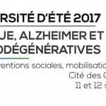 11 et 12 septembre 2017 : 7e Université d'été Éthique, Alzheimer et maladies neurodégénératives