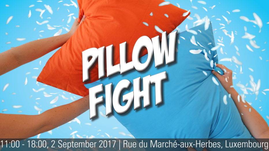 Pillow fight - Bataille de polochons - Luxembourg