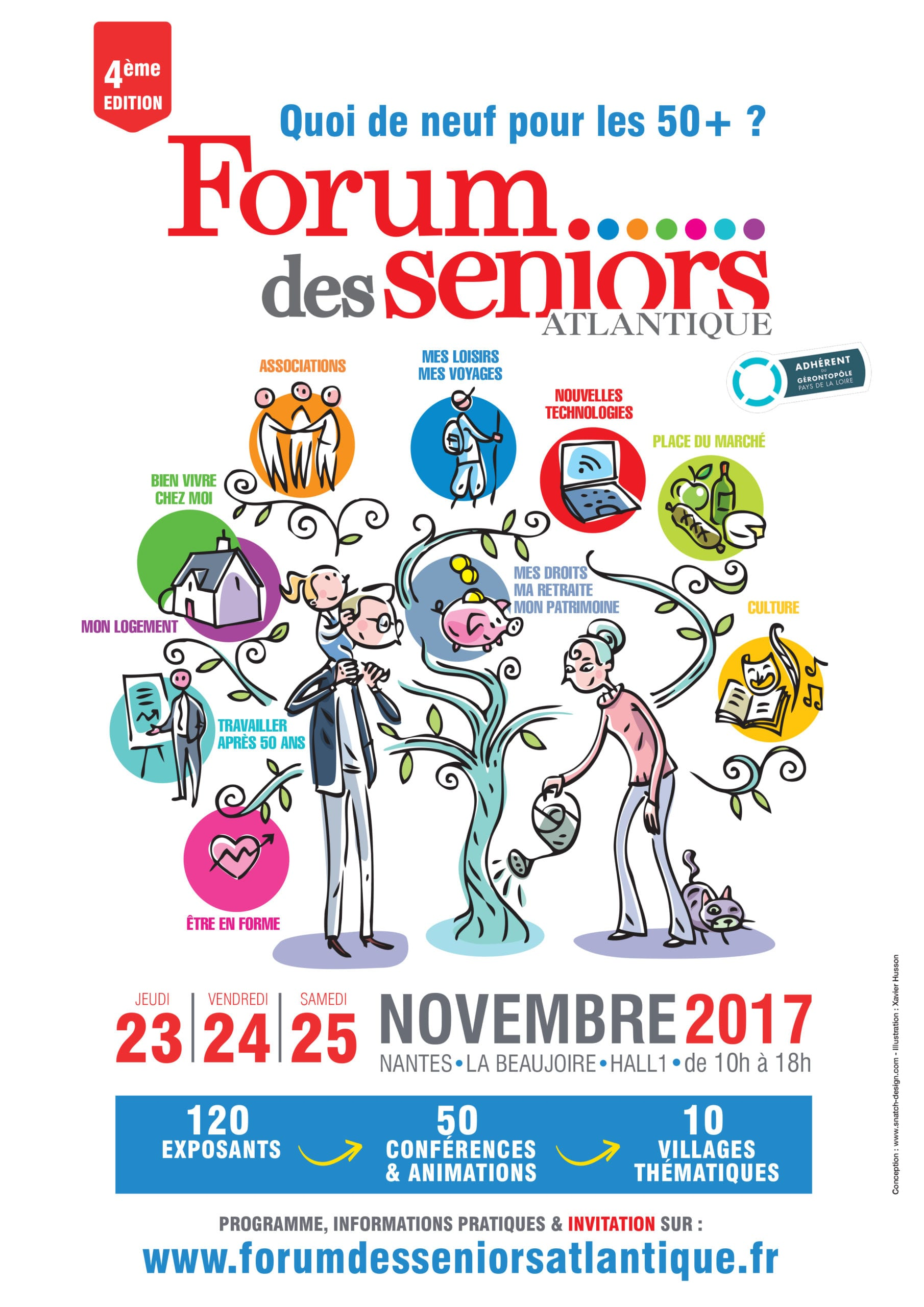 Logo du forum des seniors atlantique