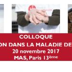 20 novembre 2017 : Colloque rééducation dans la maladie de Parkinson à Paris