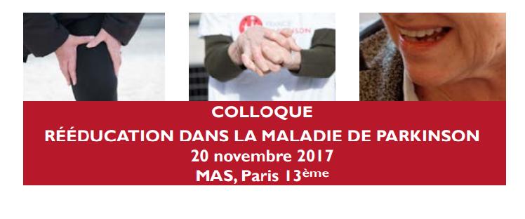 Colloque rééducation Parkinson @ MAS, Paris 13ème