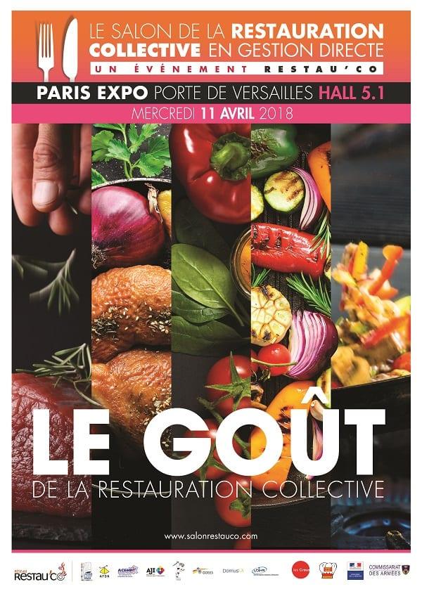 11 avril 2018 rdv au salon de la restauration collective for Salon restauration paris