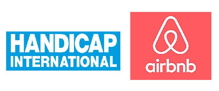 Handicap International et Airbnb