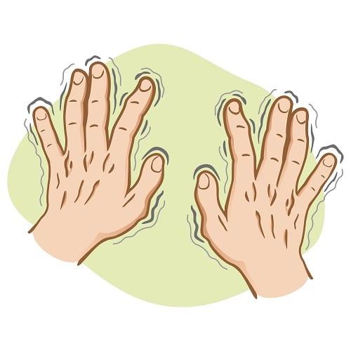 Parkinson - Tremblement - Mains - Symptôme maladie de parkinson