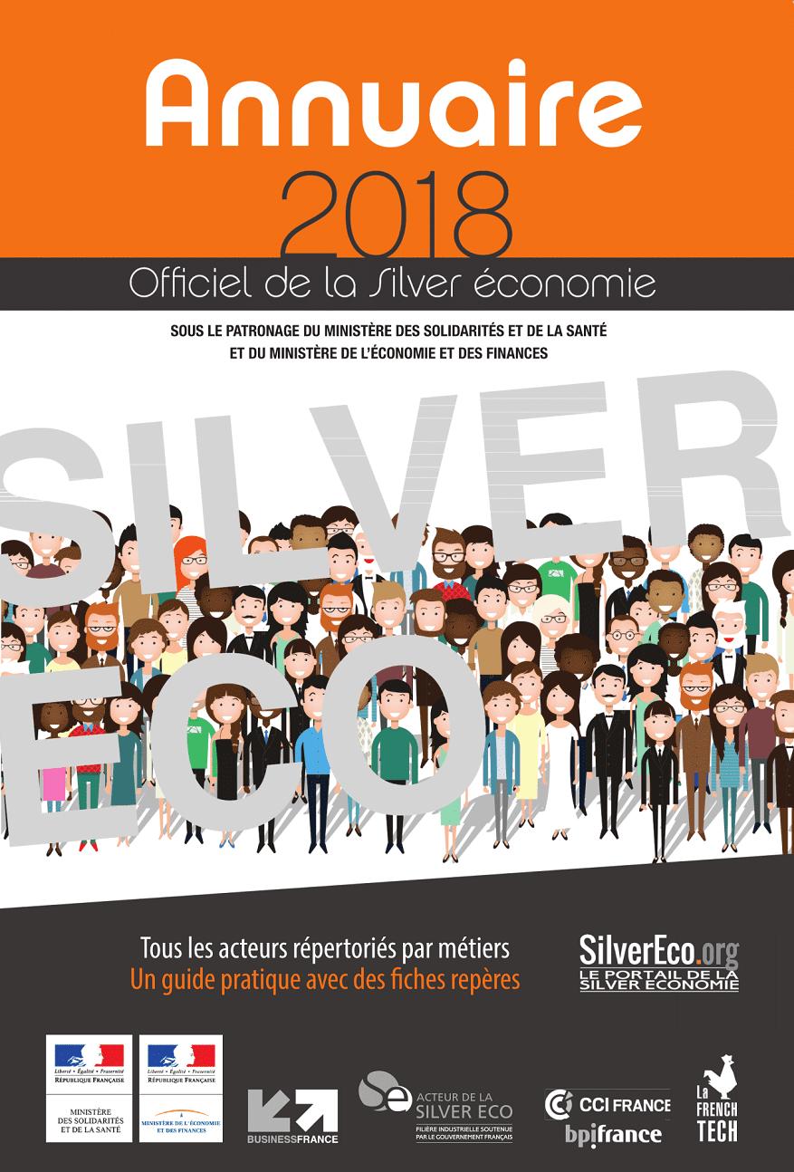 Couverture Annuaire de la Silver économie 2018