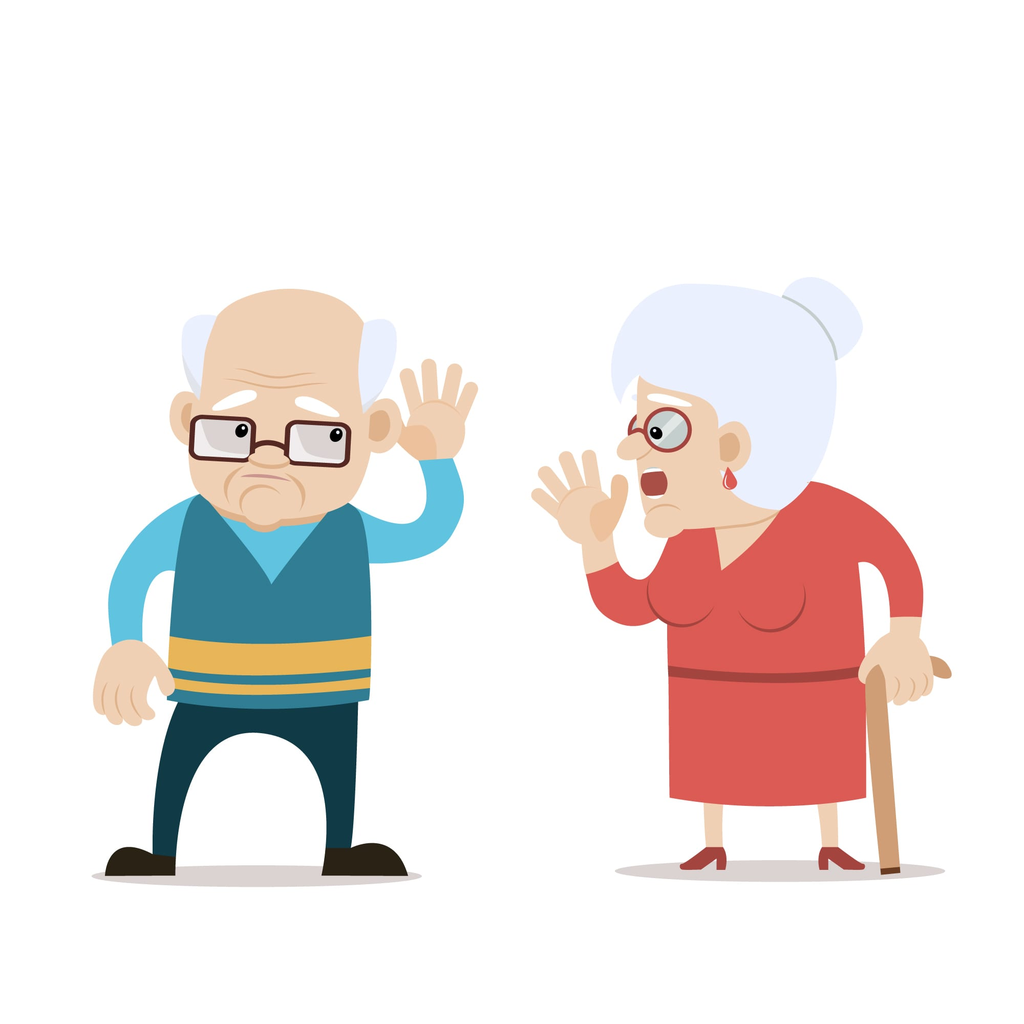 Audition - Malaudition - Couple de personnes âgées