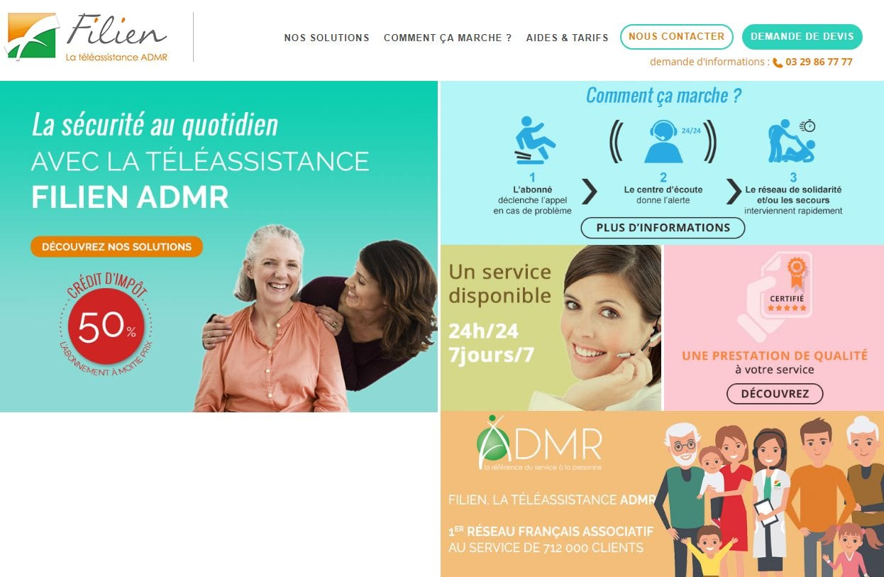 Site internet filien admr
