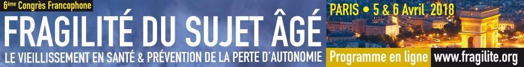 Congrès sur la fragilité du sujet âgé et prévention de la perte d'autonomie @ Les salons Hoche   Paris   Île-de-France   France