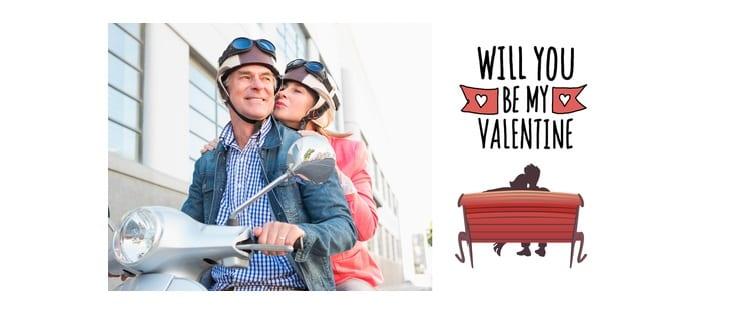 Saint-Valentin - Couple - Amour - Loisirs - Scooter