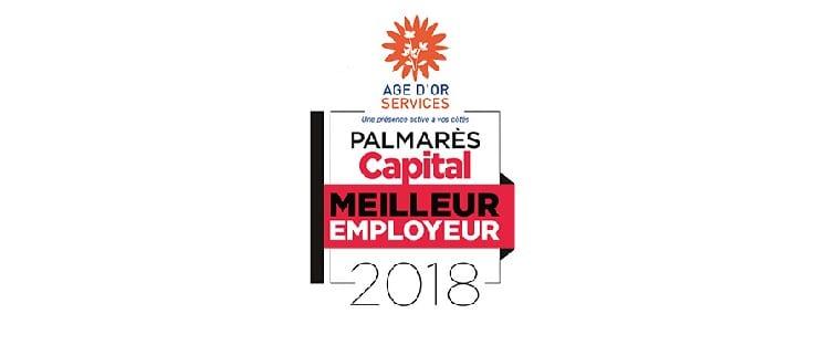 Le réseau Age d'Or Services labellisé «Meilleur Employeur 2018» par le magazine Capital