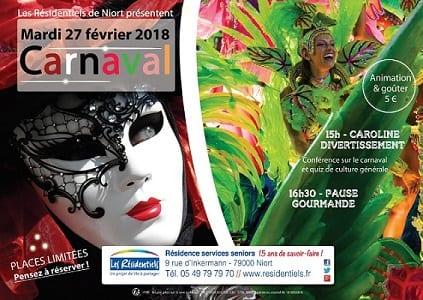 Les Résidentiels : animation Carnaval et goûter entre aînés @ Les Résidentiels Niort | Niort | Nouvelle-Aquitaine | France