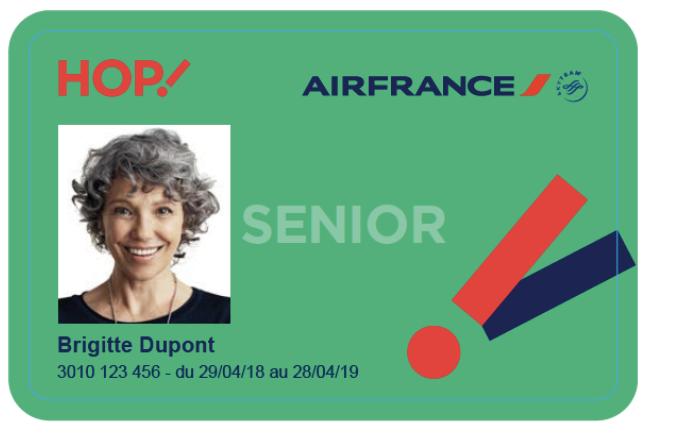 air france carte senior HOP! Air France lance une nouvelle carte destinée aux plus de 65