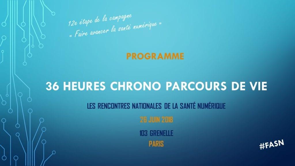 36 Heures Chrono Parcours de vie - préprogramme 1-03-18